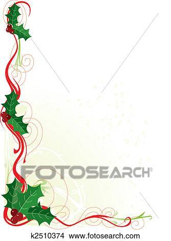 Natale Agrifoglio Bordo Disegni K2510374