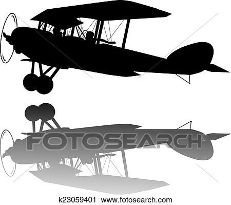 Vintage Airplane Clipart K23059401 Fotosearch
