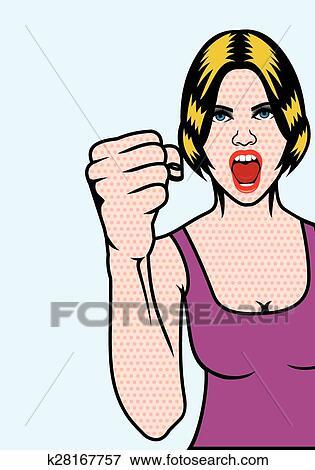 clip art of women rights pop art poster k28167757 search clipart