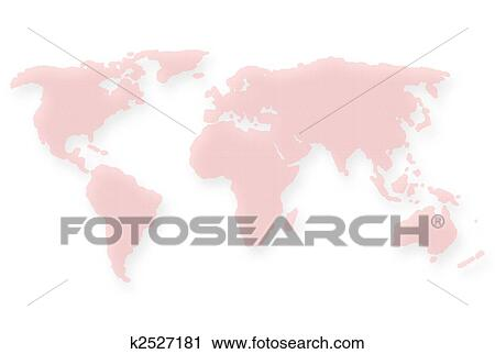 Dotted Red World Map Clipart K2527181