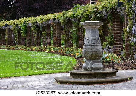 Picture   English Garden Sundial. Fotosearch   Search Stock Photography,  Photos, Prints,