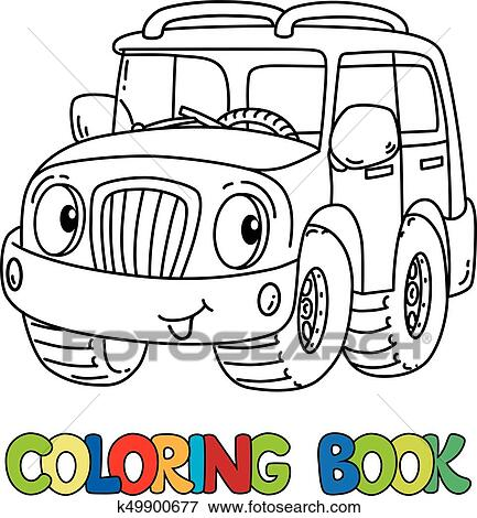Clip Art Lustig Jeep Oder Outroader Mit Augenpaar