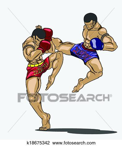 Muay Thai Martial Art Clipart K18675342 Fotosearch