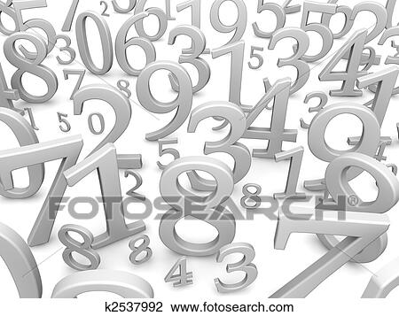 Clip Art Schwarz Weiß Zahlen Hintergrund 3d Geleistet