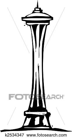 clip art of seattle space needle k2534347 search clipart rh fotosearch com seattle seahawks clip art free seattle seahawks clip art