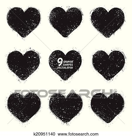 Vector vintage grunge hearts Clipart | k20951140 | Fotosearch