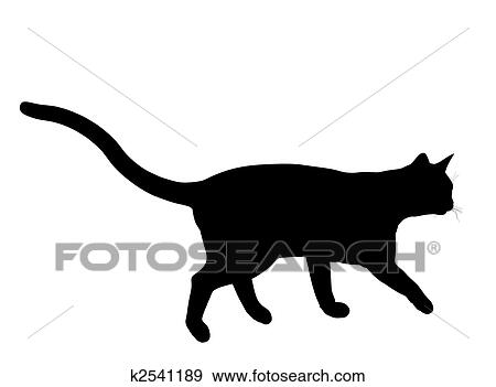 ネコ イラスト シルエット イラスト K2541189 Fotosearch
