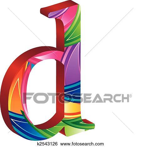 Clip Art - coloreado, alfabeto, con, zapatillas con clavos, y, hojas ...