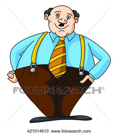 clipart of fat business man k21014610 search clip art rh fotosearch com Fat Guy Eating a Sub Fat Guy Eating Cartoon