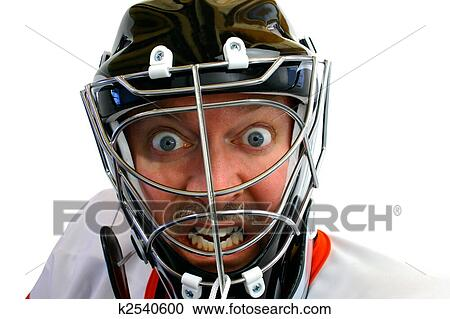 Stock Photography Of Mad Hockey Goalie K2540600 Search Stock
