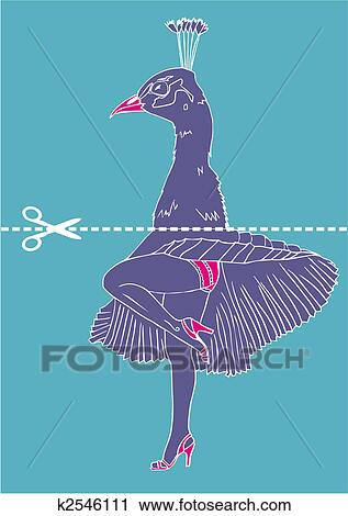 6439d0826bd Clipart - Marilyn Monroe legs with peacock head. Fotosearch