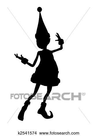 desenhos natal duende silueta ilustração k2541574 busca de