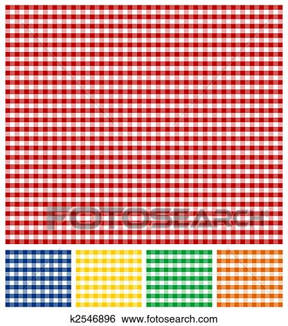 Stock Illustration Of Picnic Tablecloth Texture