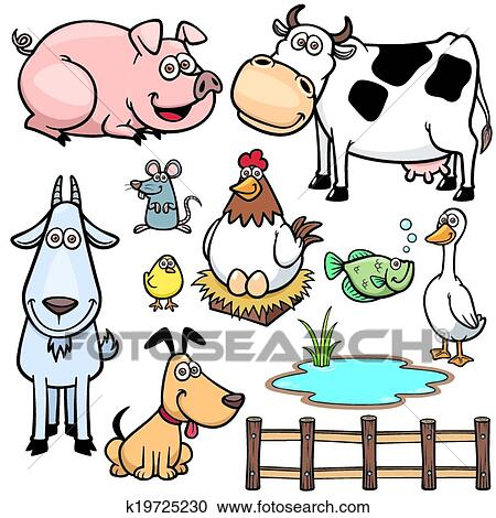 Animaux Ferme Clipart K19725230 Fotosearch