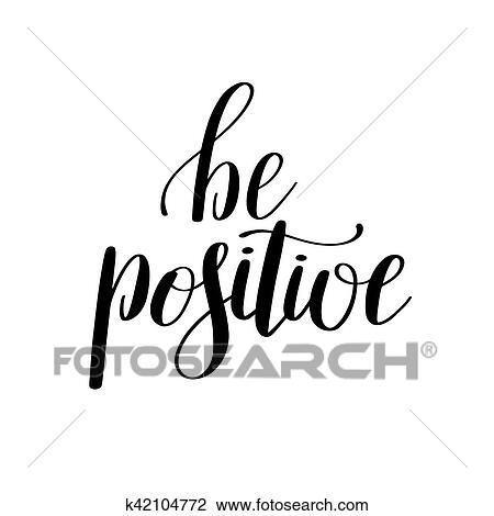 clipart of be positive handwritten positive inspirational quote rh fotosearch com inspirational clip art images inspirational clipart png