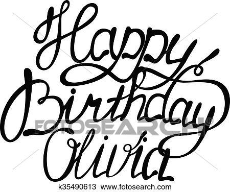Clipart Of Happy Birthday Olivia K35490613 Search Clip Art