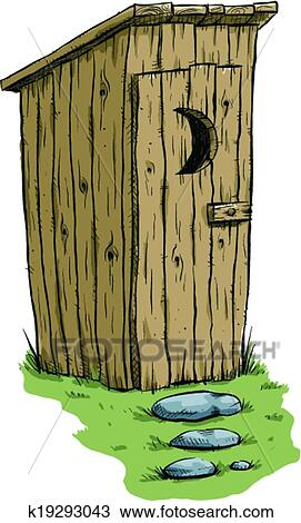 clipart of outhouse k19293043 search clip art illustration murals rh fotosearch com funny outhouse clipart cartoon outhouse clipart