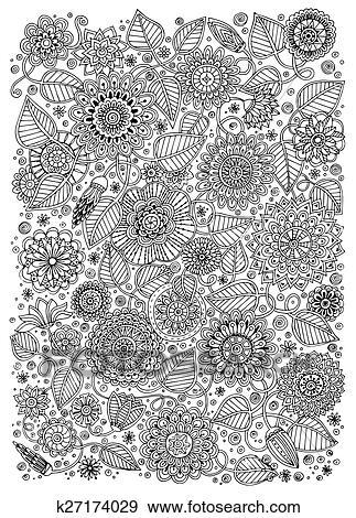 Schwarz Weiß Muster Für Erwachsene Oder Kinder Ausmalbilder Clip Art