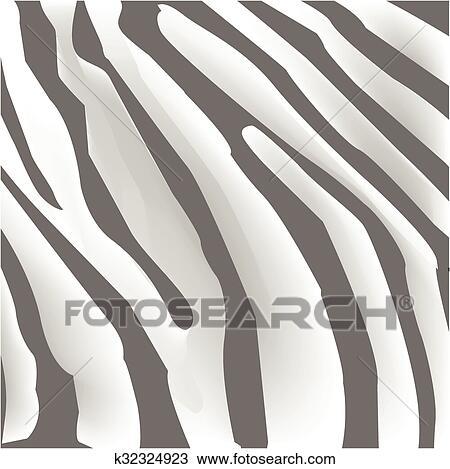 Clipart Texture De Peau Zebre Noir Blanc Raies K32324923