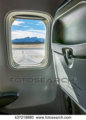 Awe Inspiring Airplane Window Seat View Stock Image K37218880 Fotosearch Gmtry Best Dining Table And Chair Ideas Images Gmtryco