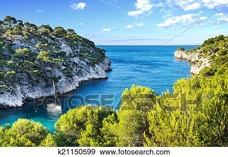 Calanque Of Cassis Stock Photo K21150599 Fotosearch