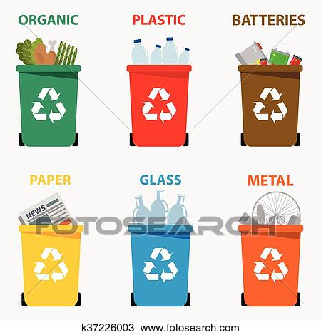 clipart of different colored recycle waste bins vector clip art trash cart free clip art trash can