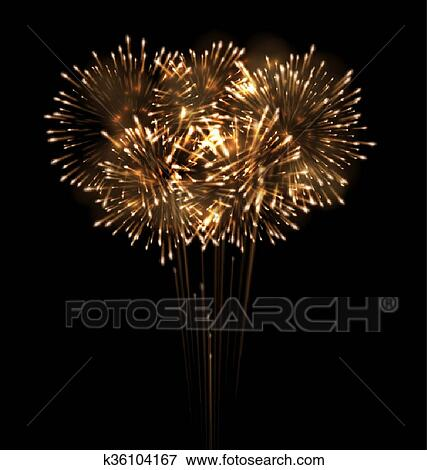 clip art festive grandiose firework explode bursting sparkling fotosearch search clipart illustration