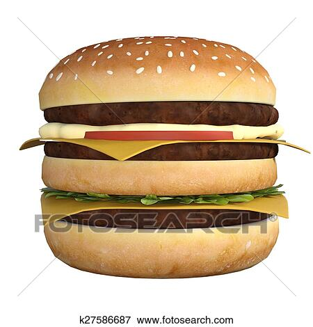 stock illustration of hamburger k27586687 search eps clipart
