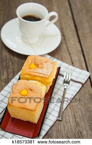 Stock Photography Of Japanese Cotton Cheese Cake K18573381 Search