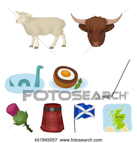 Stock Illustration Of National Symbols Of Scotland Scottish