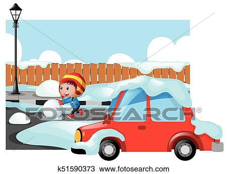 Winter Driving Clip Art - Royalty Free - GoGraph