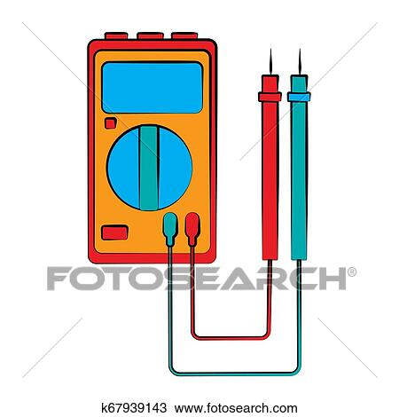 a small red blue electricity meter, tester, digital  vector clipart refugees fence with