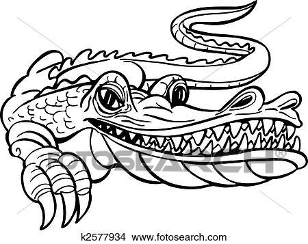 clipart of alligator cartoon k2577934 search clip art