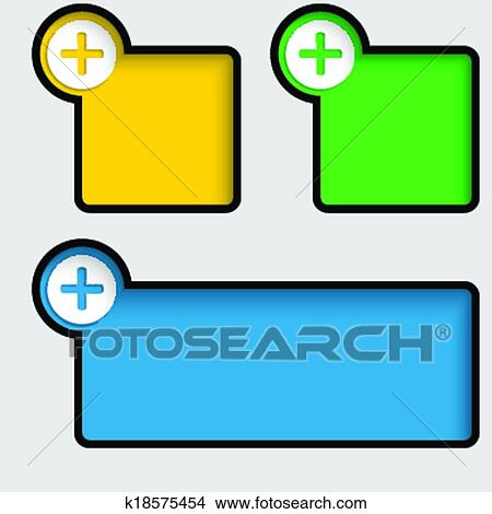 clipart of black text frame with plus sign k18575454 search clip rh fotosearch com black plus sign clipart red plus sign clipart
