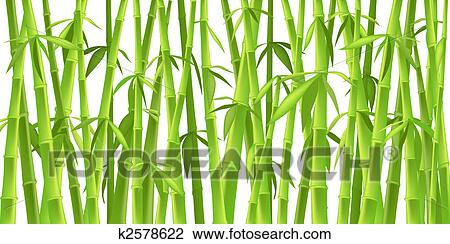 Clip Art Of Chinese Bamboo Trees K2578622 Search Clipart