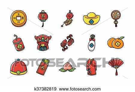 Chinese New Year Icons Seteps10