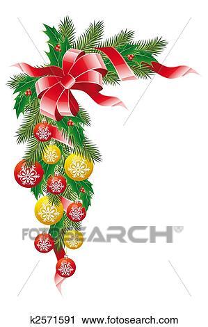 Clipart Weihnachtsdeko K2571591 Suche Clip Art Illustration
