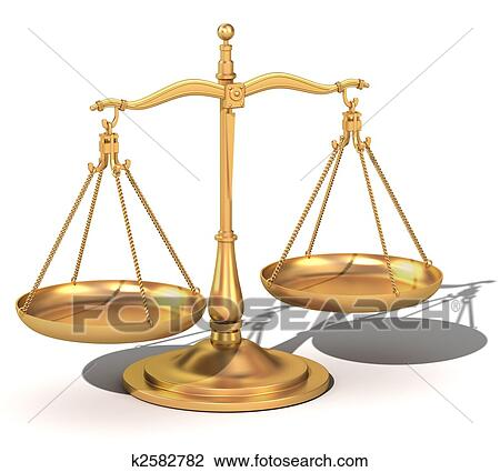 Stock Photo Of 3d Gold Balance The Scales Of Justice K2582782