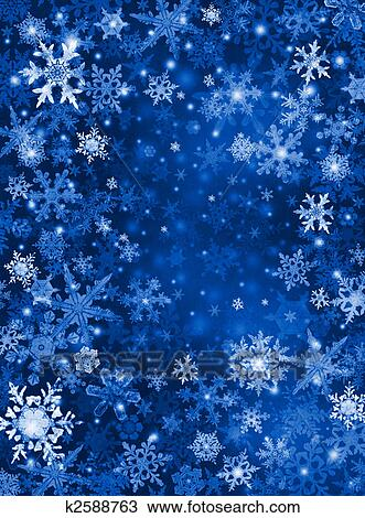 Drawing Of Blue Snow Background K2588763 Search Clipart