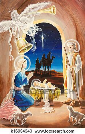 Christmas Jesus.Christmas Birth Of Jesus Clipart