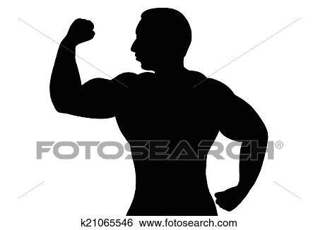 Banque D Illustrations Homme Muscle K21065546 Recherche De Clip