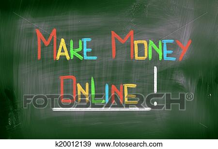 Stock Illustration Of Make Money Online Concept K20012139 Search