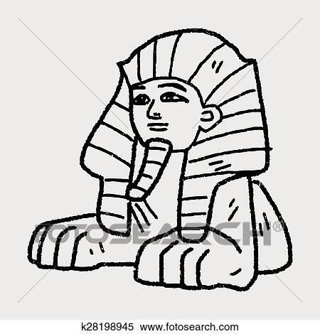 clipart of sphinx doodle k28198945 search clip art illustration rh fotosearch com egyptian sphinx clipart sphinx clip art images