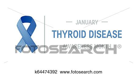 Thyroid Awareness Month Vector Concept Clipart K64474392