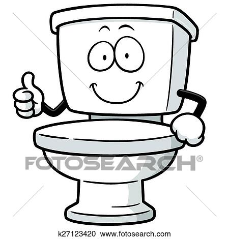 clipart of toilet k27123420 search clip art illustration murals rh fotosearch com toilet clipart gray toilet clip art black and white