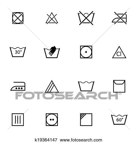 clip art of vector black washing icons set k19364147 search