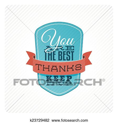 clipart of vintage thank you card k23729482 search clip art