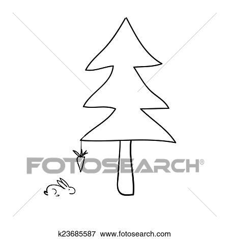 Ilustración Portada Pino Navidad Dibujo Wwwperfectoimagenescom