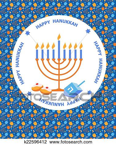 Clipart of happy hanukkah greeting card design k22596412 search clipart happy hanukkah greeting card design fotosearch search clip art illustration murals m4hsunfo