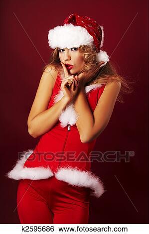 1a4dbb7a6a2 Sexy santa helper Stock Photograph